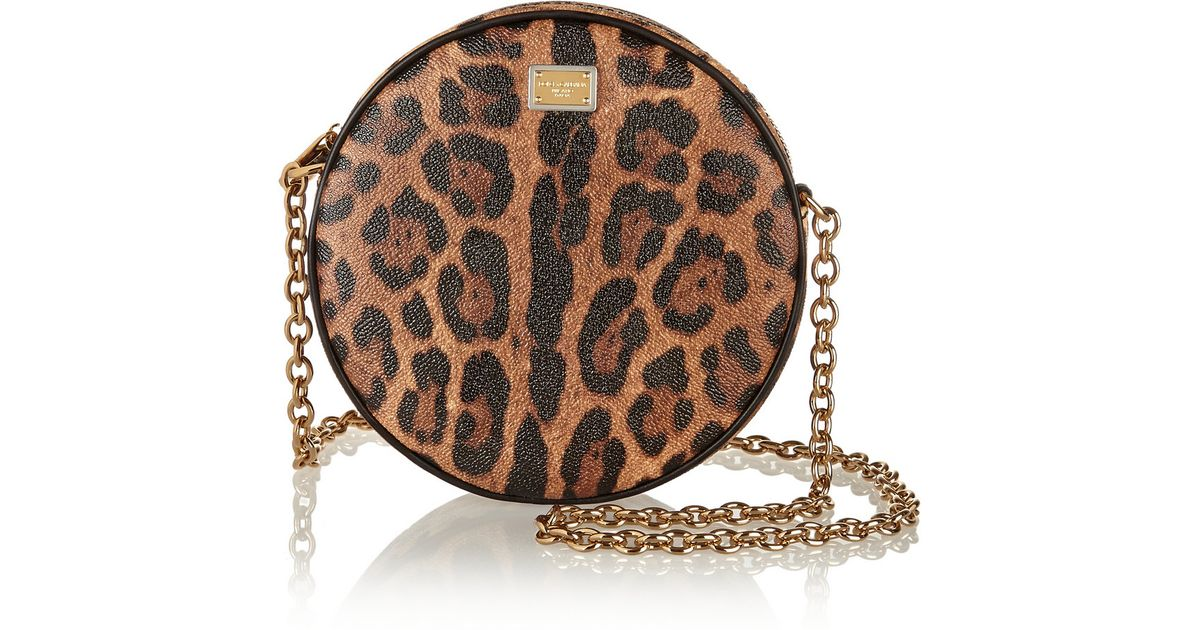f03970acb74d Lyst - Dolce   Gabbana Glam Leopard-Print Faux Leather Shoulder Bag