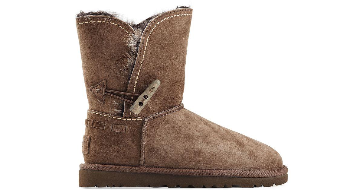 ugg meadow sheepskin boots brown in brown lyst