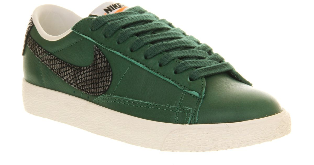 02bf248bae8 ... usa lyst nike blazer low vintage in green for men 83710 d6c6c