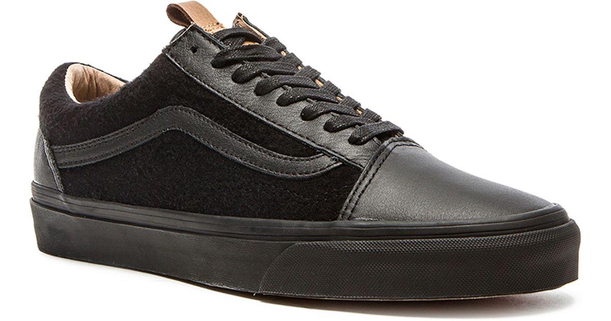 Lyst - Vans California Old Skool Reissue Leather   Wool in Black for Men 7cf6beee1
