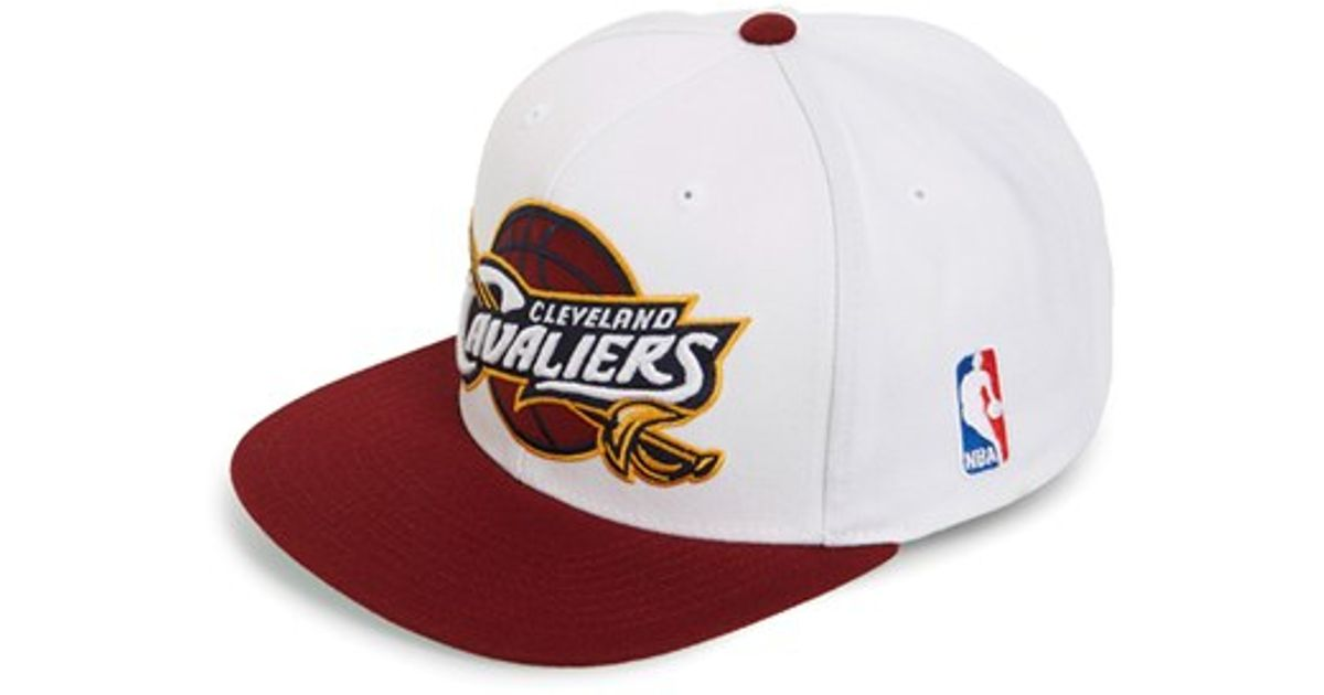 52c47e9fa7f Lyst - Mitchell   Ness  cleveland Cavaliers - Xl Logo  Snapback Cap in  White for Men