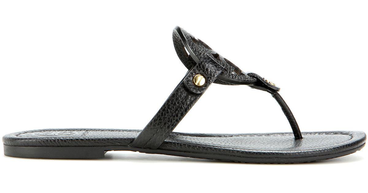 22bdf6cf13d36 Lyst - Tory Burch Miller Leather Sandals in Black