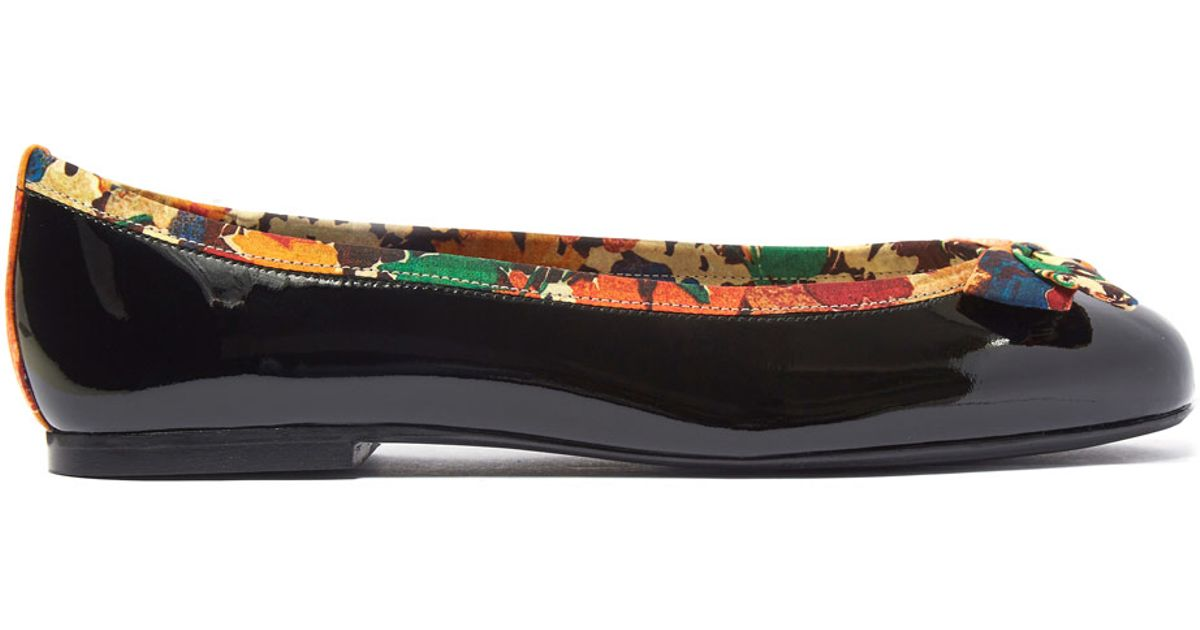 22a0f7626d9ad French Sole Black Patent Leather Henrietta Flats in Black - Lyst