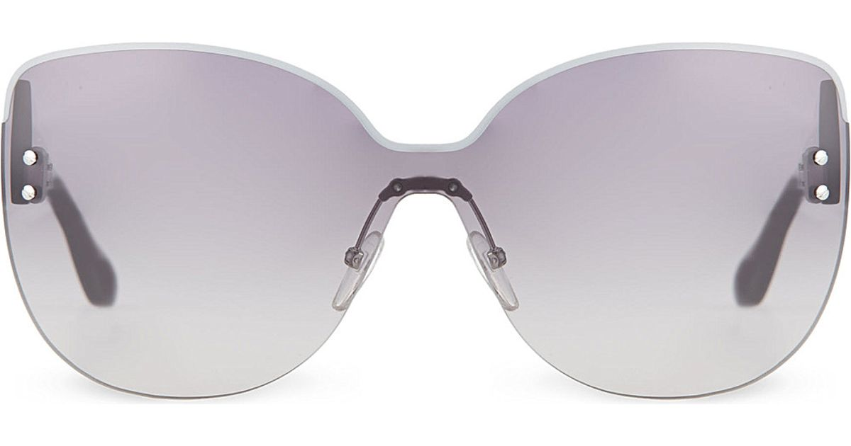 Frameless Sunglasses Lelong : Marc jacobs Mmj422/s Frameless Sunglasses in Gray Lyst