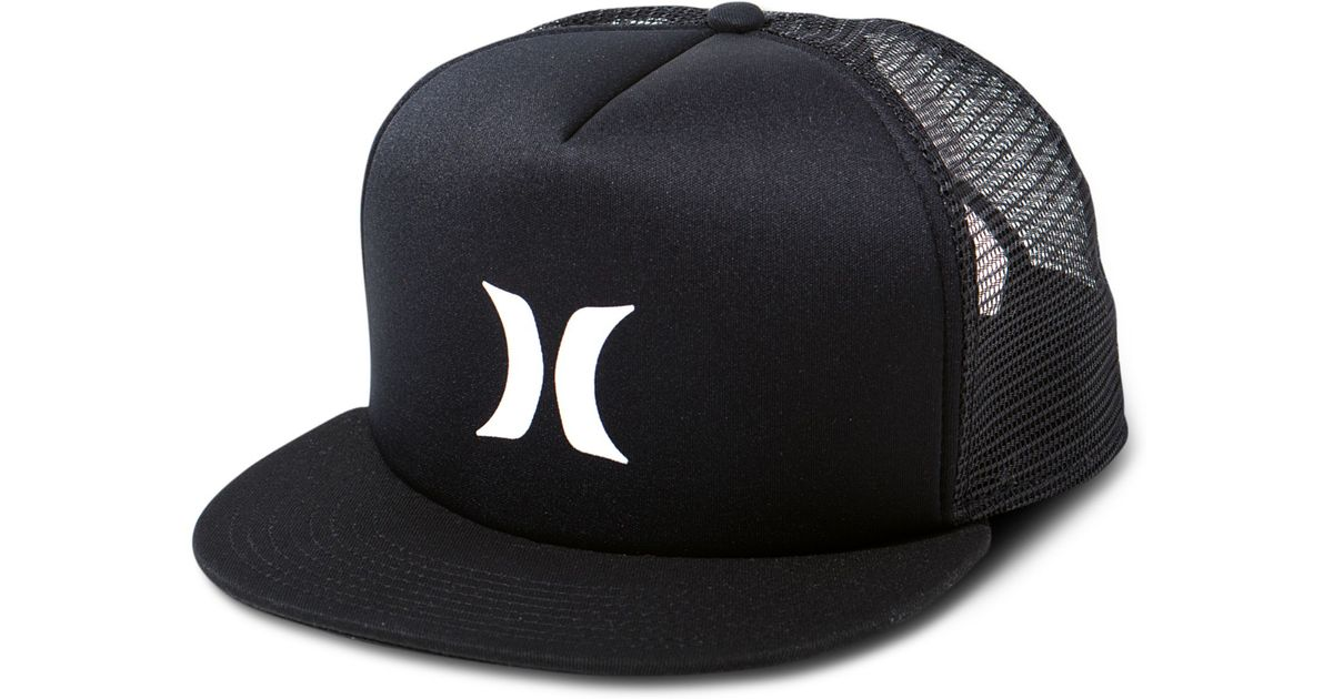 promo code for lyst hurley 5 panel trucker hat in black for men a90df dd607 ea59e0a47747