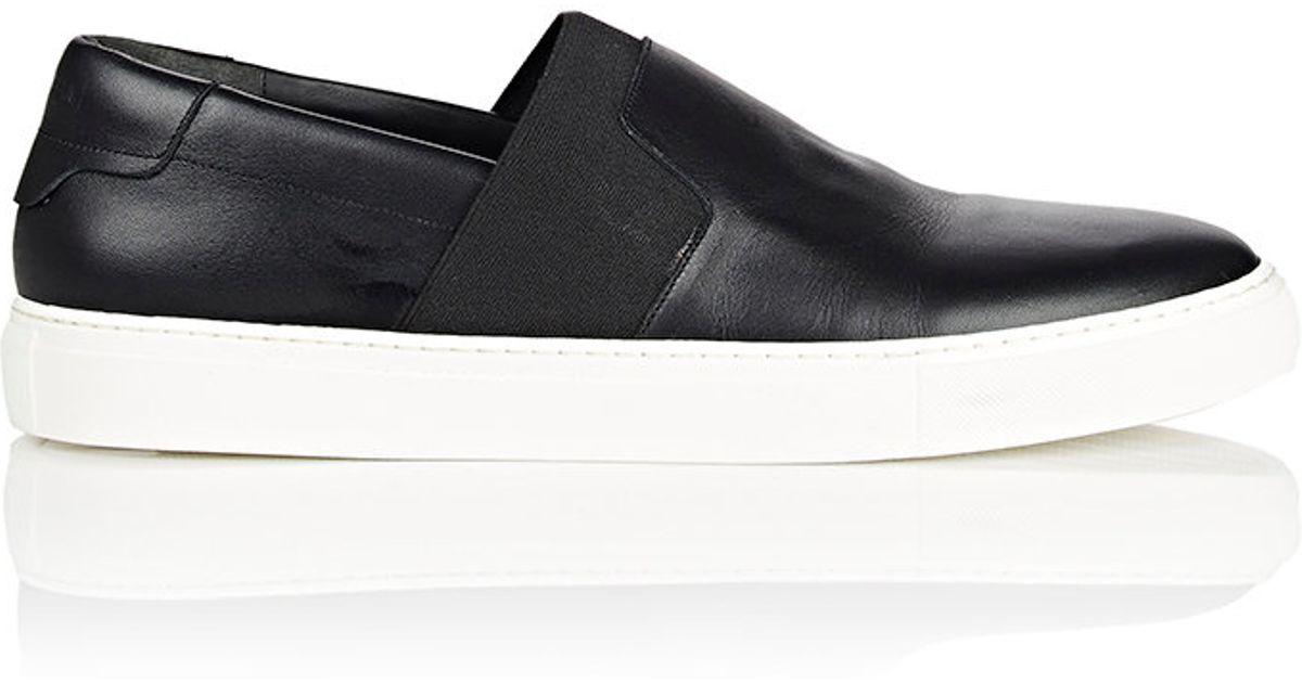 Lyst - Balenciaga Leather Slip-On Sneakers in Black for Men e4fa6f4e9f6d