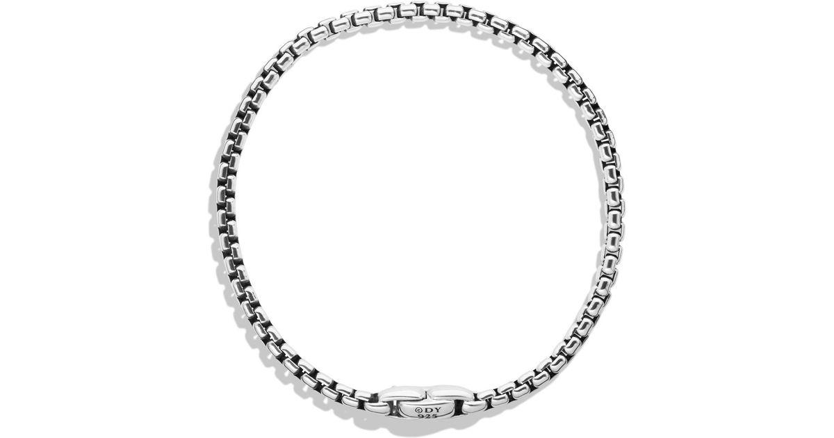 42ae5463b22a6 Lyst - David Yurman Medium Box Chain Bracelet in Metallic for Men