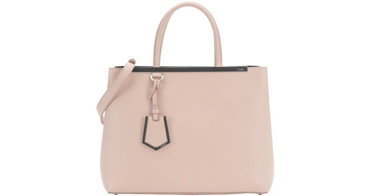 Fendi Pre-owned: Powder Pink Leather \u0026#39;2jours\u0026#39; Convertible Tote in ...