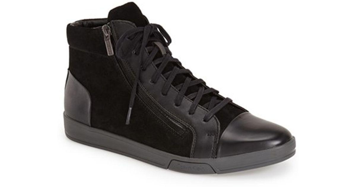 calvin klein 39 berke action 39 sneaker in black for men lyst. Black Bedroom Furniture Sets. Home Design Ideas