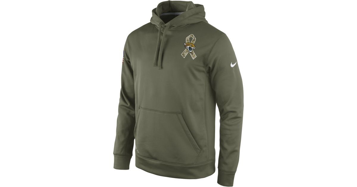 Hot Nike Men'S Jacksonville Jaguars Salute To Service Ko Hoodie in Green  for sale
