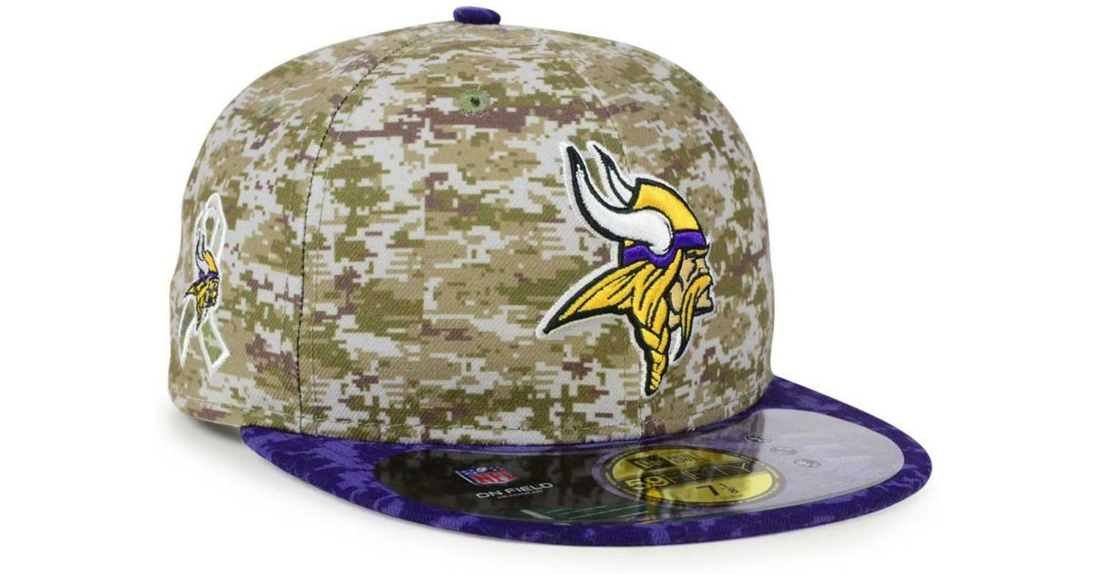 quality design 9005a 72679 KTZ Minnesota Vikings Salute To Service 59fifty Cap in Blue for Men - Lyst