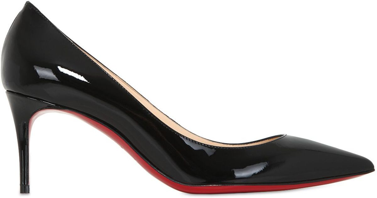 Christian Louboutin 70mm Decollete 554 Patent Leather Pumps in Black - Lyst 21a8e590fd3a
