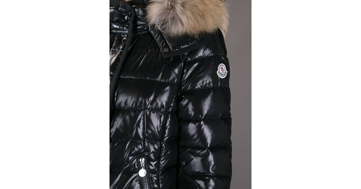5be9199b6 shop moncler shiny black vest zodiac 7f4a8 cec88
