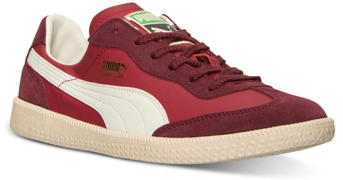 ba5b8a34f904 ... usa lyst puma mens super liga og retro casual sneakers from finish line  in red for