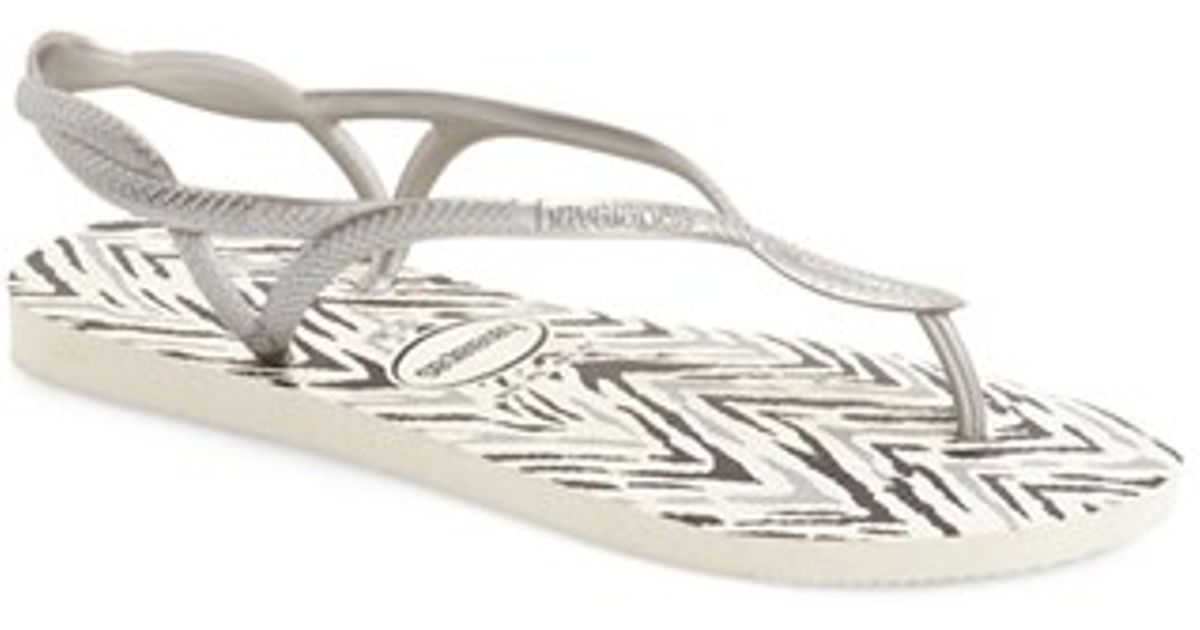342a25a6bcc9 Lyst - Havaianas Luna Animals Sandals in Metallic