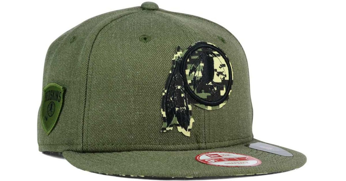 4e4029c26e8d3a ... low price lyst ktz washington redskins sgt patch 9fifty snapback cap in  green for men 4ee19 ...