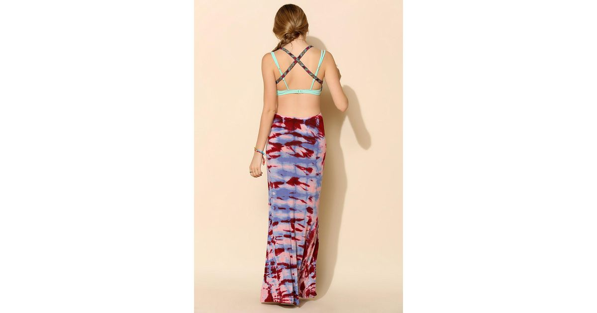 Ecote tie dye maxi dress