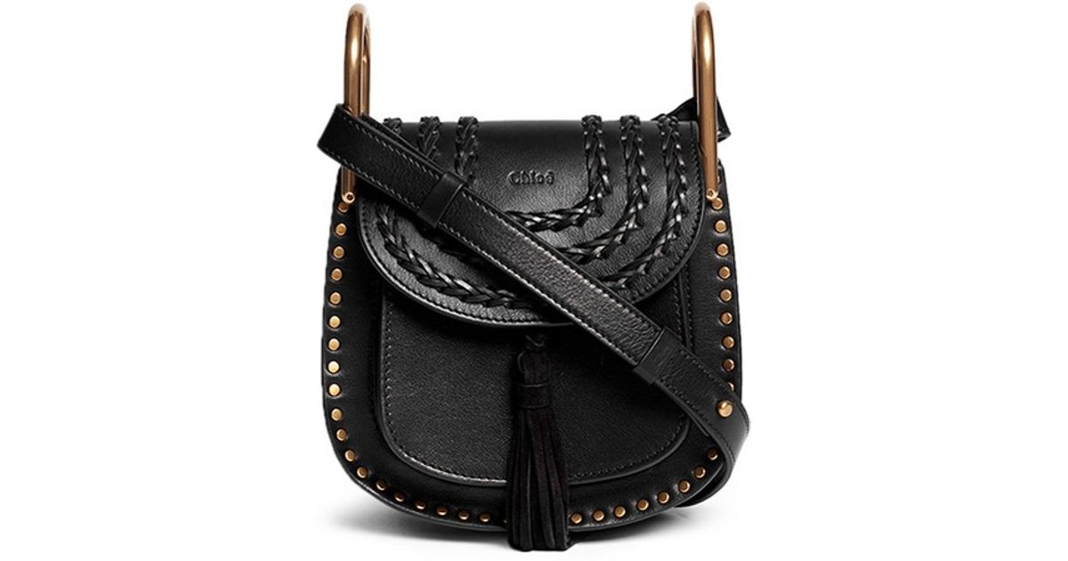 chloe handbags fake - Chlo�� 'hudson' Mini Stud Braided Leather Bag in Black | Lyst