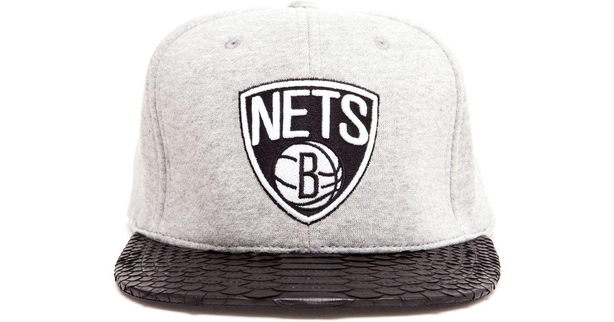 4ed69b5d816 Just Don Unisex Brooklyn Nets Fleece Baseball Cap in Black for Men - Lyst