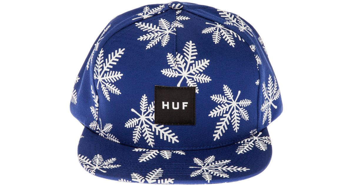 2adf7e9c3edf3 Lyst - Huf The Snowlife Snapback Hat in Blue for Men