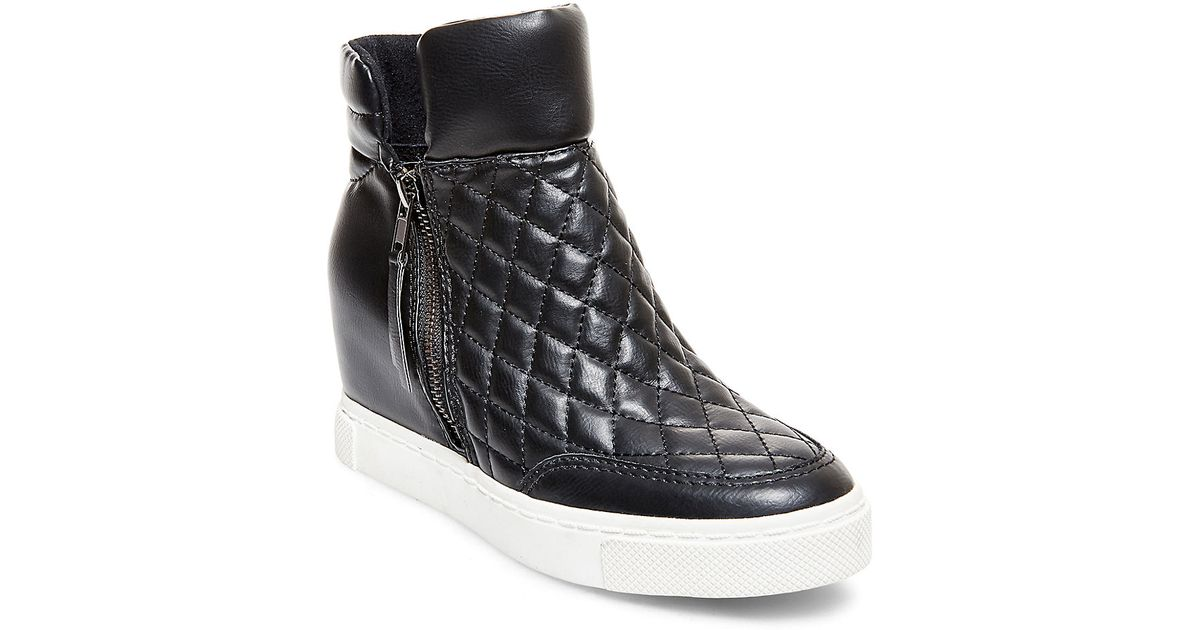 Steve Madden Linqs Quilted Leatherette High Top Sneakers