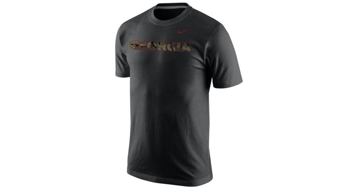 Nike Men 39 S Georgia Bulldogs Camo Hook T Shirt In Black For
