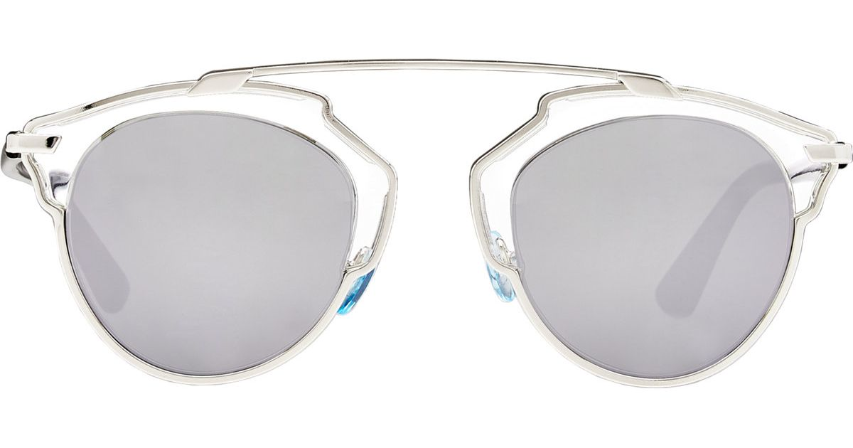cb23b5d49885 Lyst - Dior So Real Sunglasses in Metallic