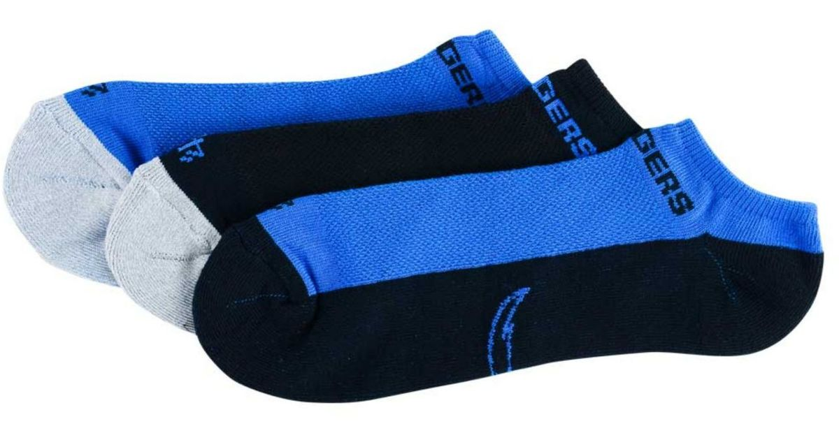 47 Brand San Diego Chargers 3 Pack No Show Socks In Blue