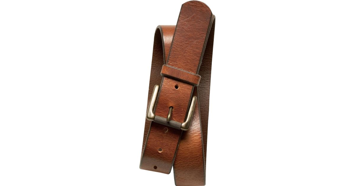 Banana republic tumbled italian leather belt in brown for for Banana republic torino