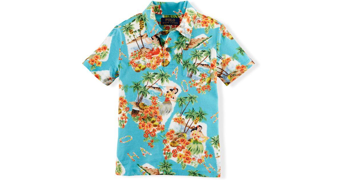 Lyst - Ralph Lauren Tropical Cotton Polo Shirt bebd754ac638
