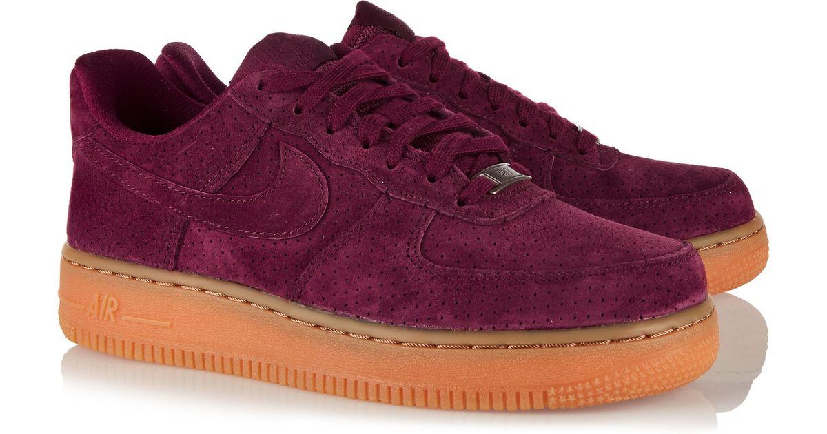 Purple Air 1 07 Lyst Nike Sneakers Force Suede PXuOkZi