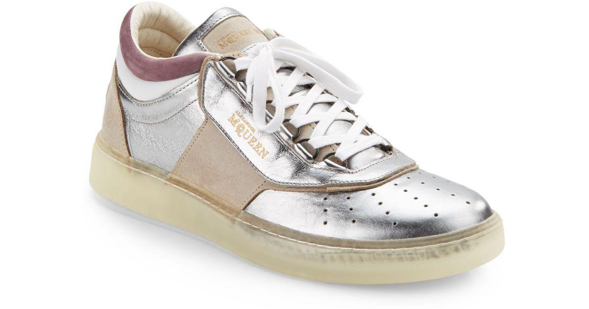 Lyst - Alexander McQueen X Puma Joust Lo Iii Metallic Leather Sneakers in  Metallic for Men c2ecd6559