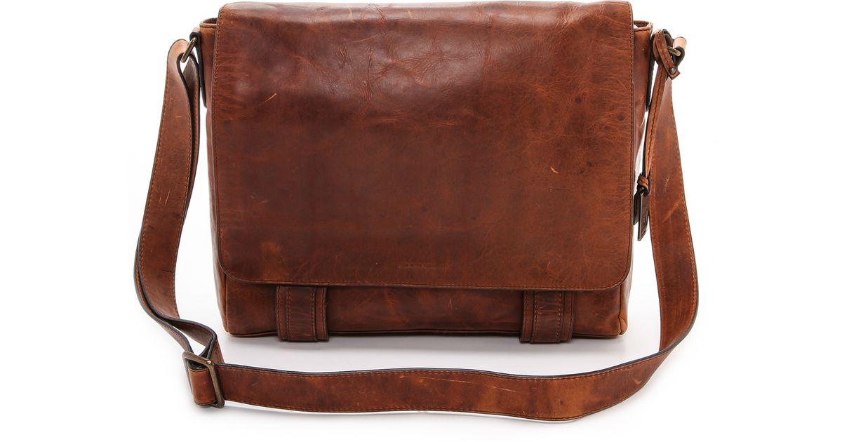 Frye Logan Messenger Bag Cognac in Brown - Lyst e2fb245fe5208