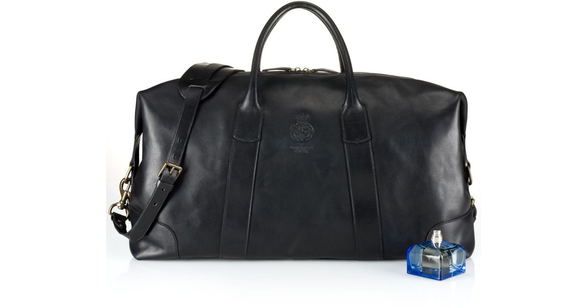 e09a839687 Lyst - Polo Ralph Lauren Core Leather Duffle Bag in Black for Men