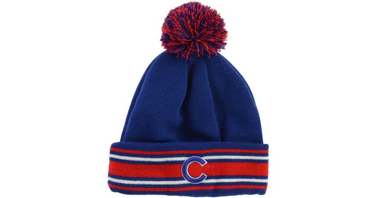 6dc1a8f4f3f78 ... germany lyst ktz chicago cubs mlb ac knit hat in blue for men 91a00  c70e4