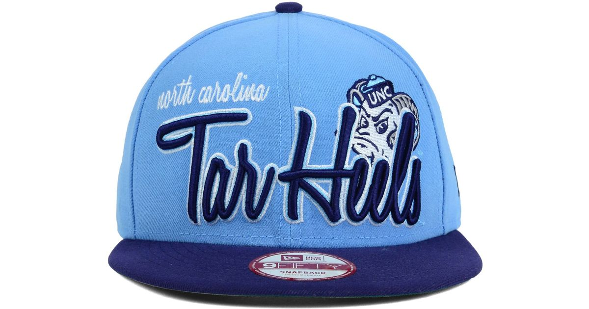 sale retailer af715 b0837 KTZ North Carolina Tar Heels Team Script 9Fifty Snapback Cap in Blue for  Men - Lyst