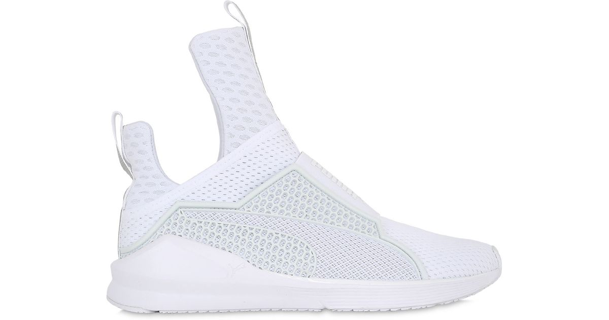 Lyst - Puma Select Rihanna Fenty Fierce Reflective Sneakers in White c38ac9941