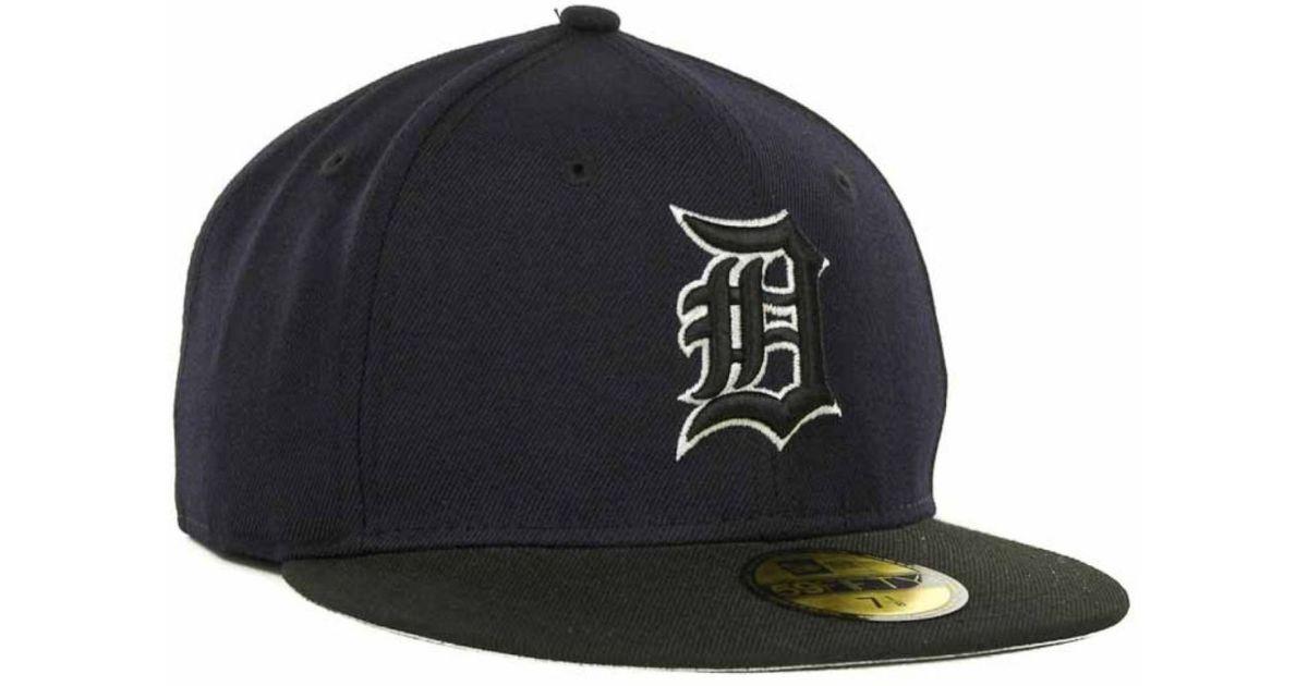 reputable site 7f5c3 698b0 Lyst - Ktz Detroit Tigers 2T Custom 59Fifty Cap in Black for Men