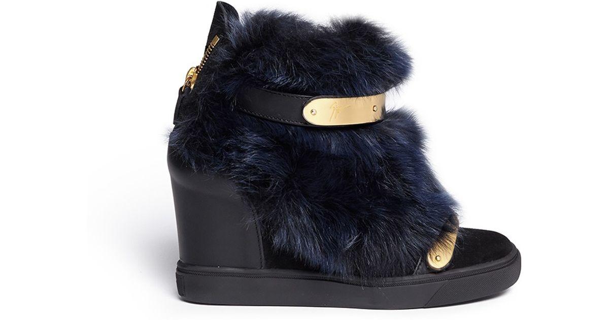 Giuseppe Zanotti Fur Snow Boots U8FThUXPx