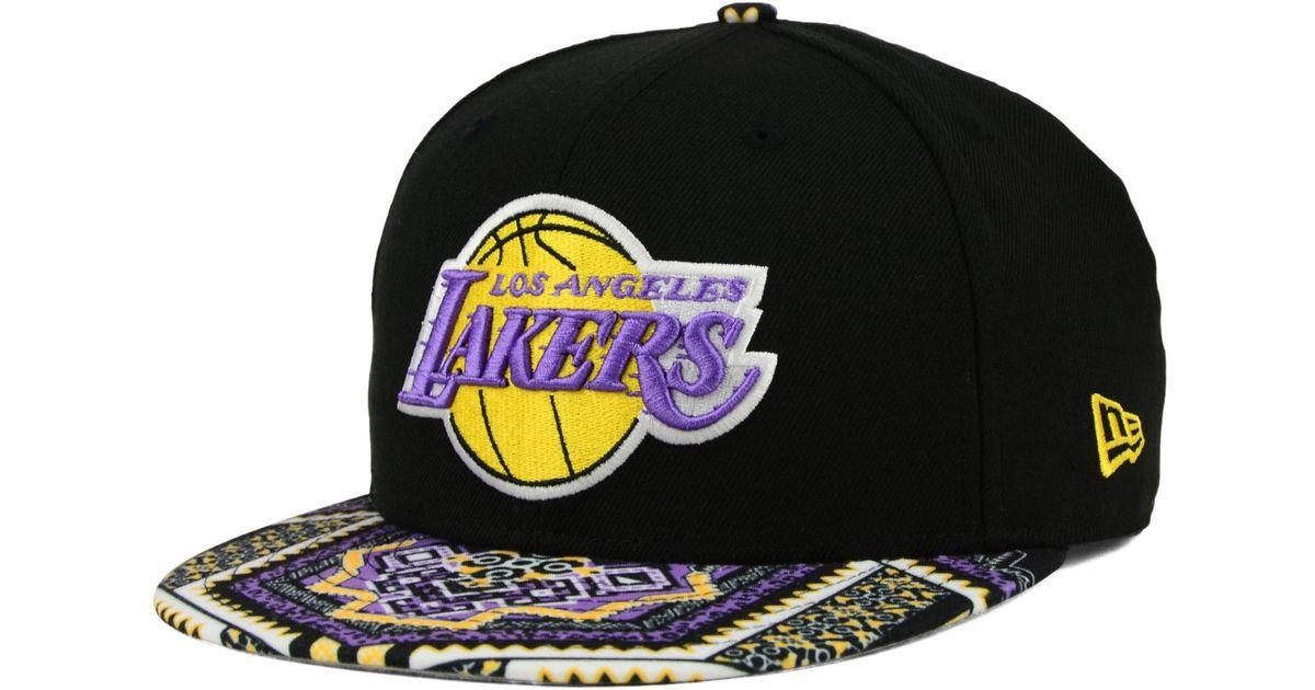info for 63c71 83731 Lyst - KTZ Los Angeles Lakers Kaleidovize 9fifty Snapback Cap in Black for  Men