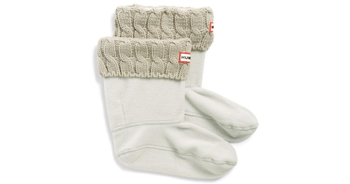 Free Knitting Pattern For Welly Socks : Hunter Original Short Cable Knit Cuff Welly Boot Socks in ...