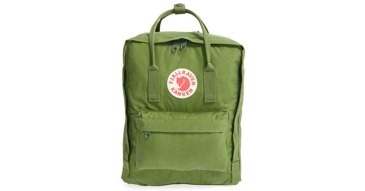 Fjallraven 'kanken' Water Resistant Backpack in Green