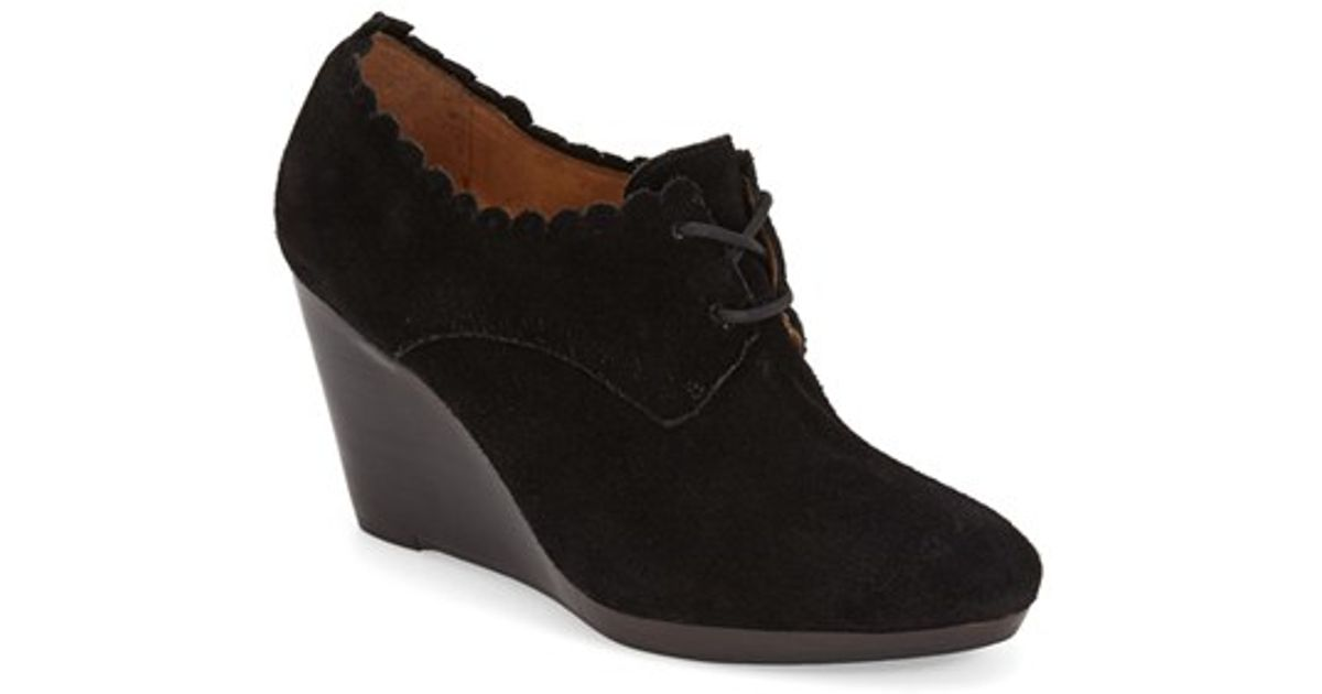 a83ba5814fd Lyst - Jack Rogers Olivia Suede Wedge Boots in Black