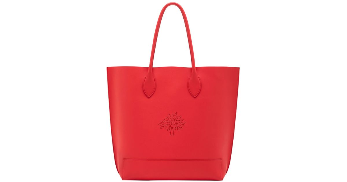 483e33cb7a87 ... authentic lyst mulberry blossom nappa leather tote bag in red 35a7a  a349c