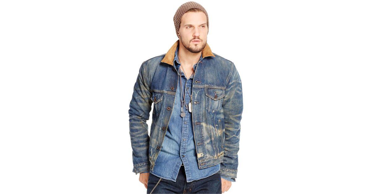 352fc77025f Denim & Supply Ralph Lauren Austin Denim Trucker Jacket in Blue for Men -  Lyst
