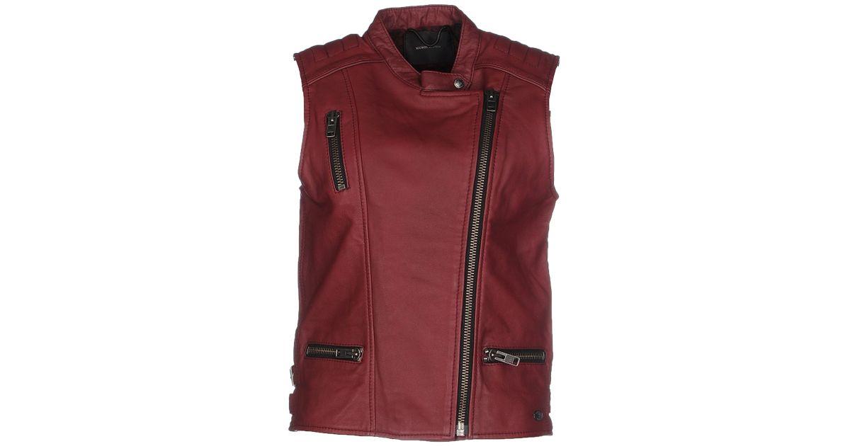 maison scotch jacket in pink lyst. Black Bedroom Furniture Sets. Home Design Ideas
