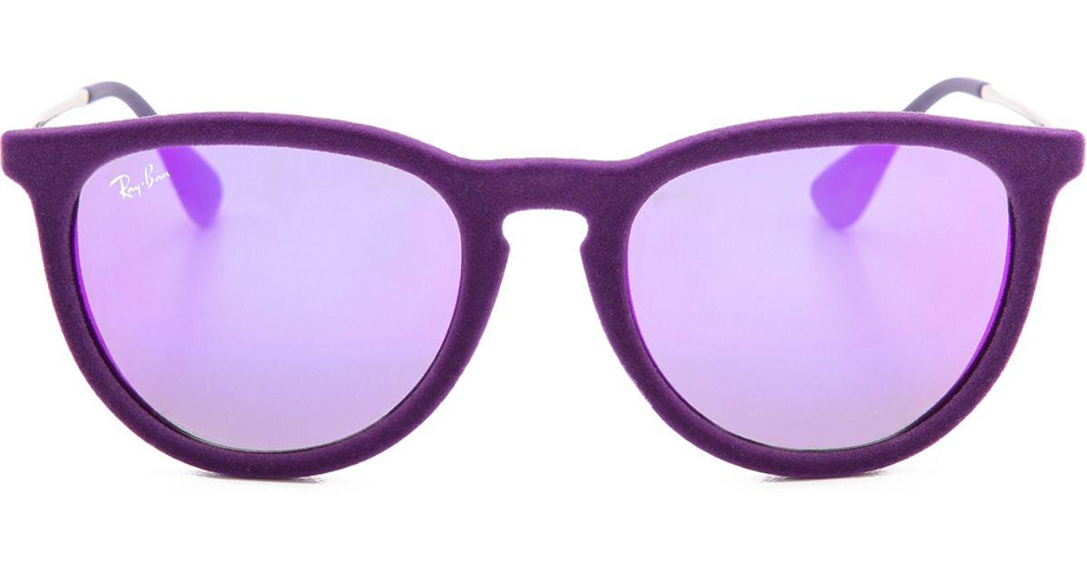 e3bce7702f ... sweden lyst ray ban erika velvet sunglasses violet in purple 2e742 2f448