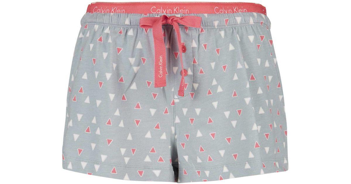 146f86fbef87 TOPSHOP Triumph Pyjama Shorts By Calvin Klein in Pink - Lyst