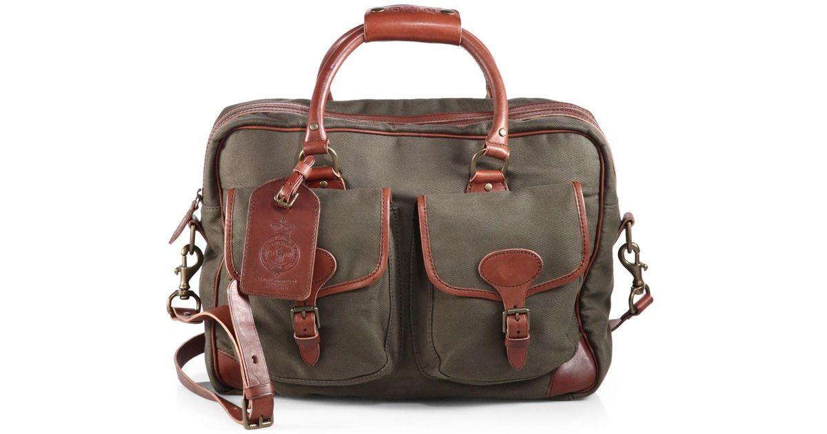 cadfed66bcd Lyst - Polo Ralph Lauren Twill Commuter Messenger Bag in Green for Men