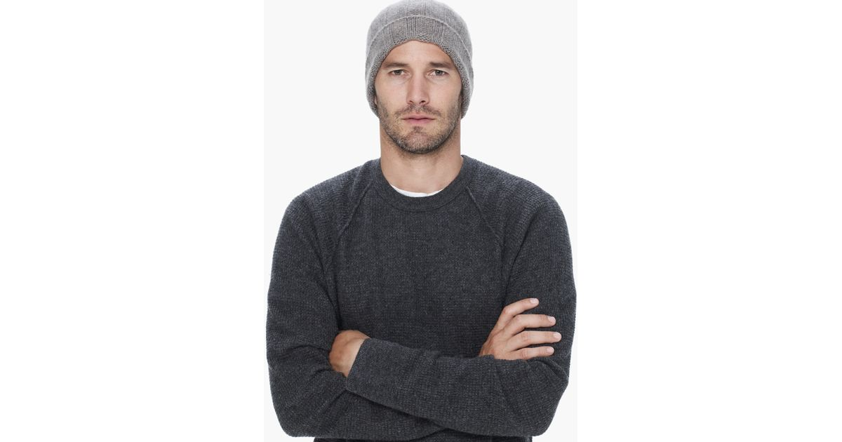 d4d43739604e5 James Perse Cashmere Beanie in Gray for Men - Lyst